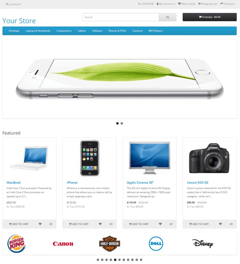 opencart e-shop