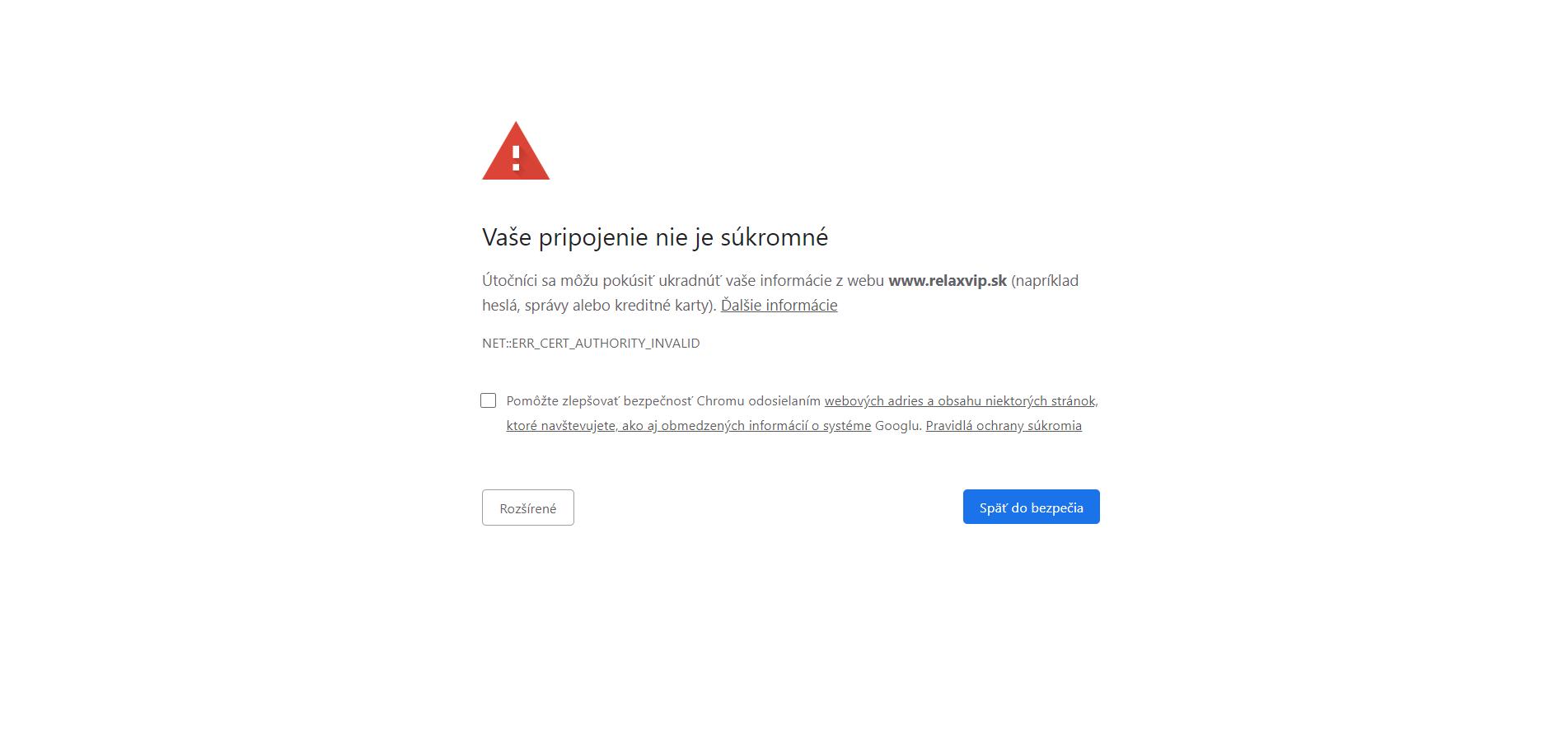 chyba v ochrane osobných údajov