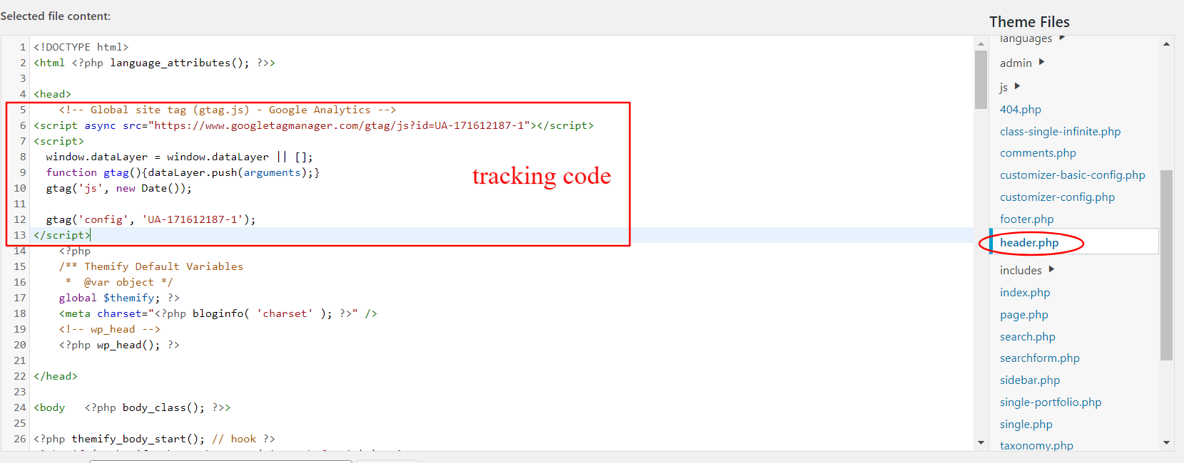 kam vložiť google analytics kód
