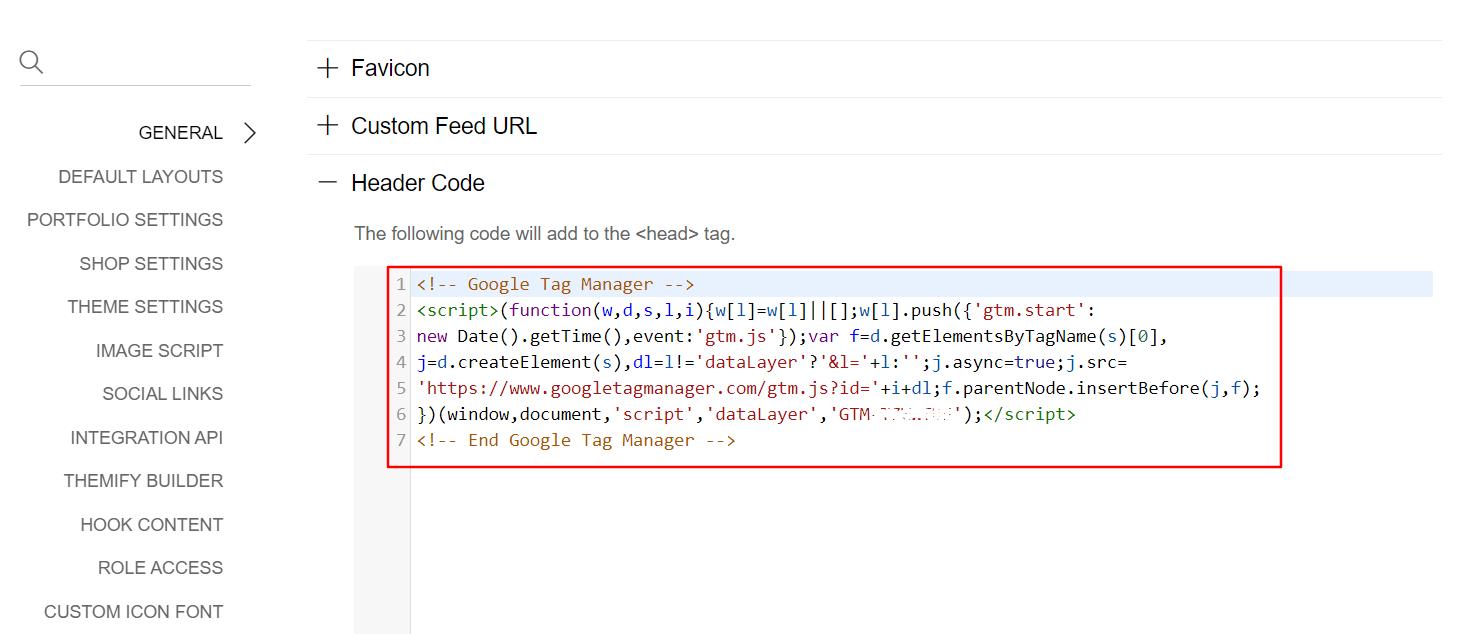 ako vložiť tracking kód do nastavení témy
