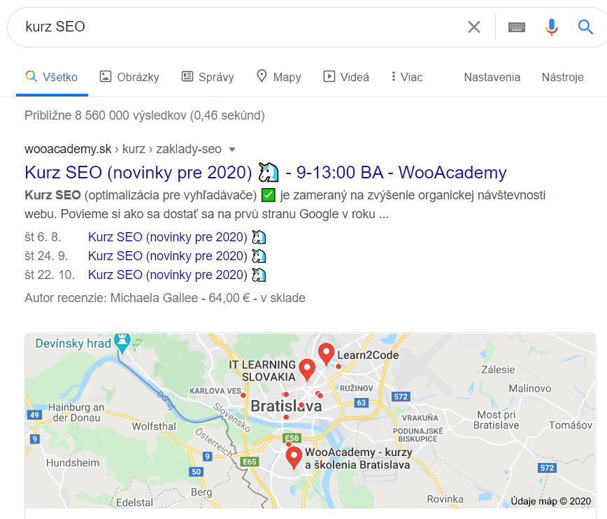 výsledky SEO marketing