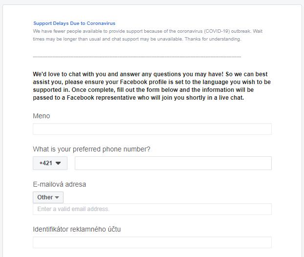 kontaktovanie-facebook-podpory