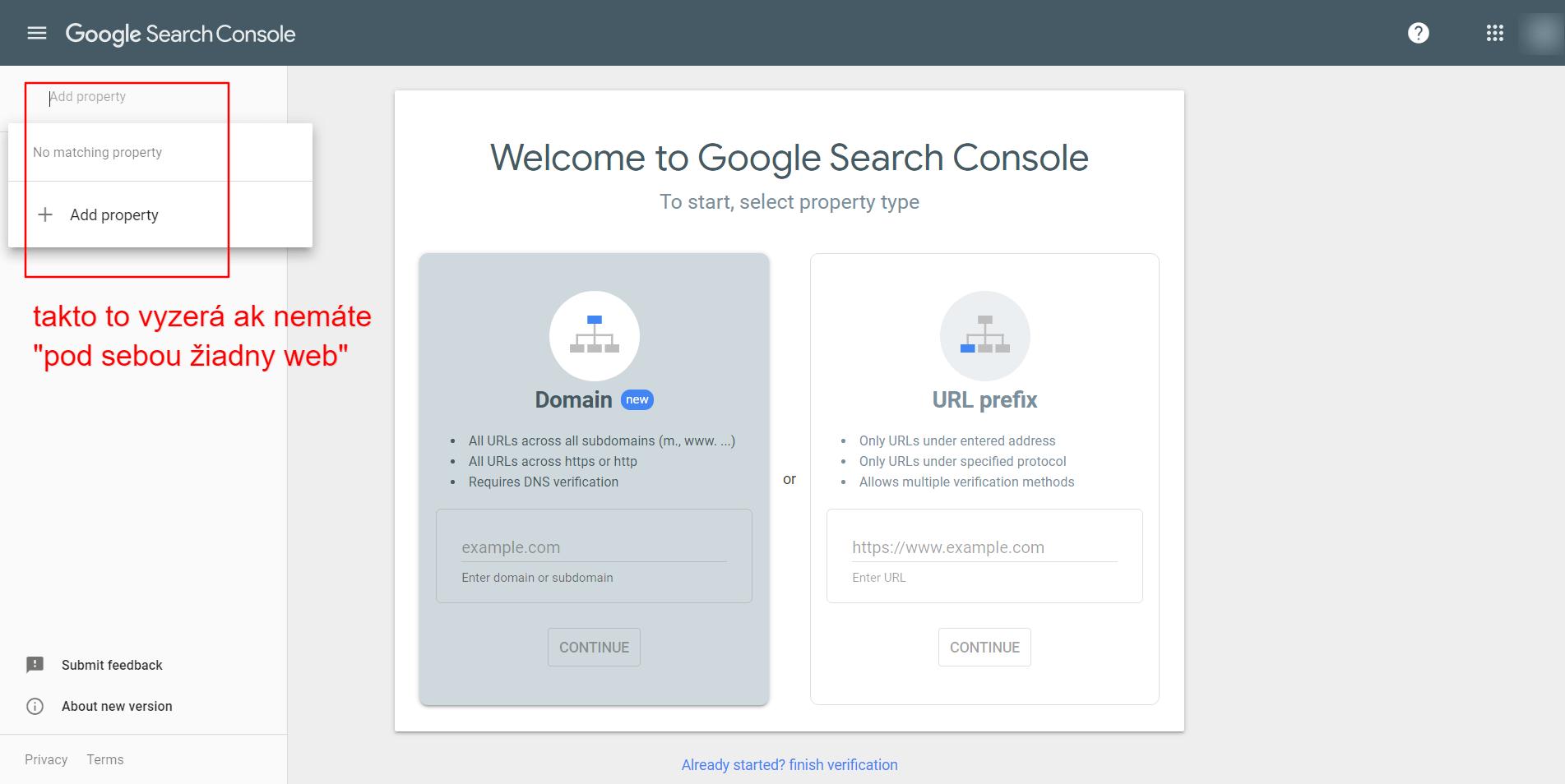 nemám prístupy do Google Search Console