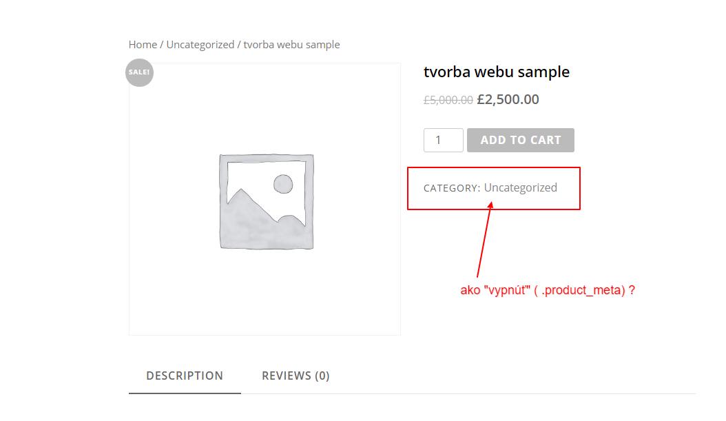 kategória produktu sa štandardne zobrazuje v produkte (single product page) a ak ju tam nechcete, jednoducho ju vypnete cez CSS.