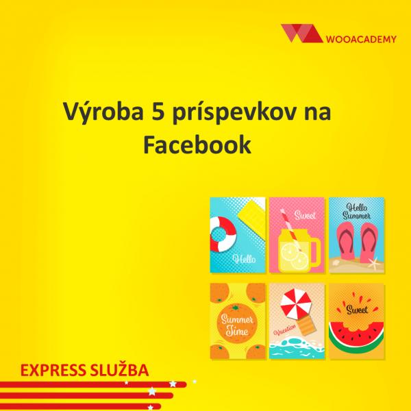 Výroba príspevkov na Facebook 5ks