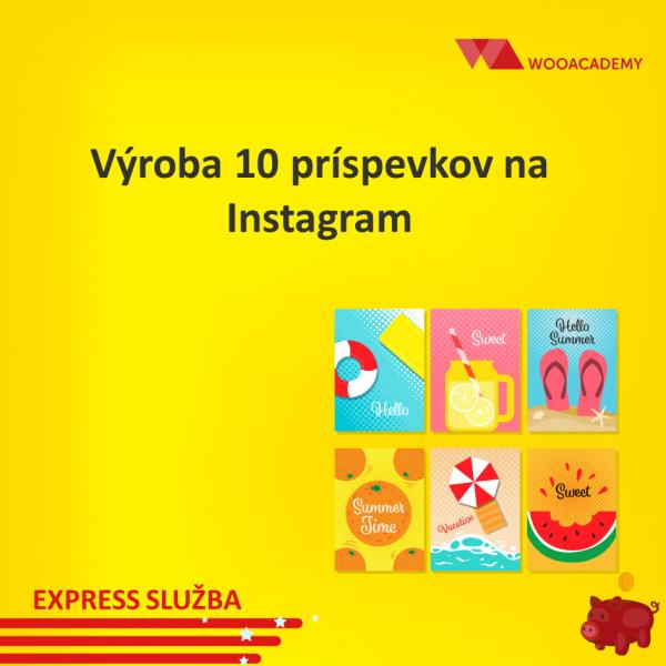 Výroba príspevkov na Instagram cena 10ks