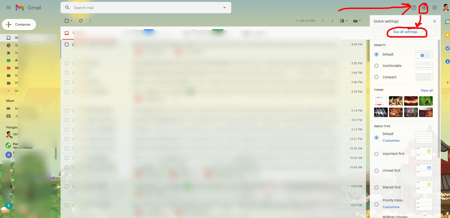 nastavenie prijímania emailov cez gmail SMTP