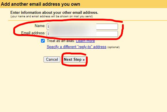 pridanie doménového emailu do gmailu